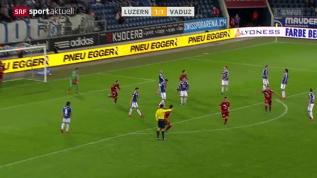 Video «Fussball: Luzern-Vaduz» abspielen