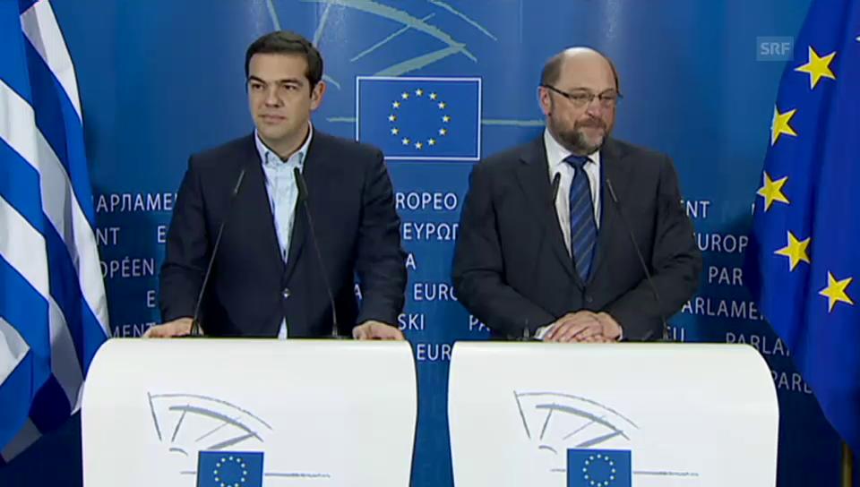 Treffen von Tsipras und Schulz (Englisch)