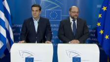 Video «Treffen von Tsipras und Schulz (Englisch)» abspielen