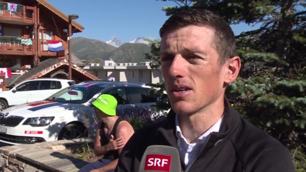 Video «Rad: Tour de France, Interview mit Mathias Frank» abspielen