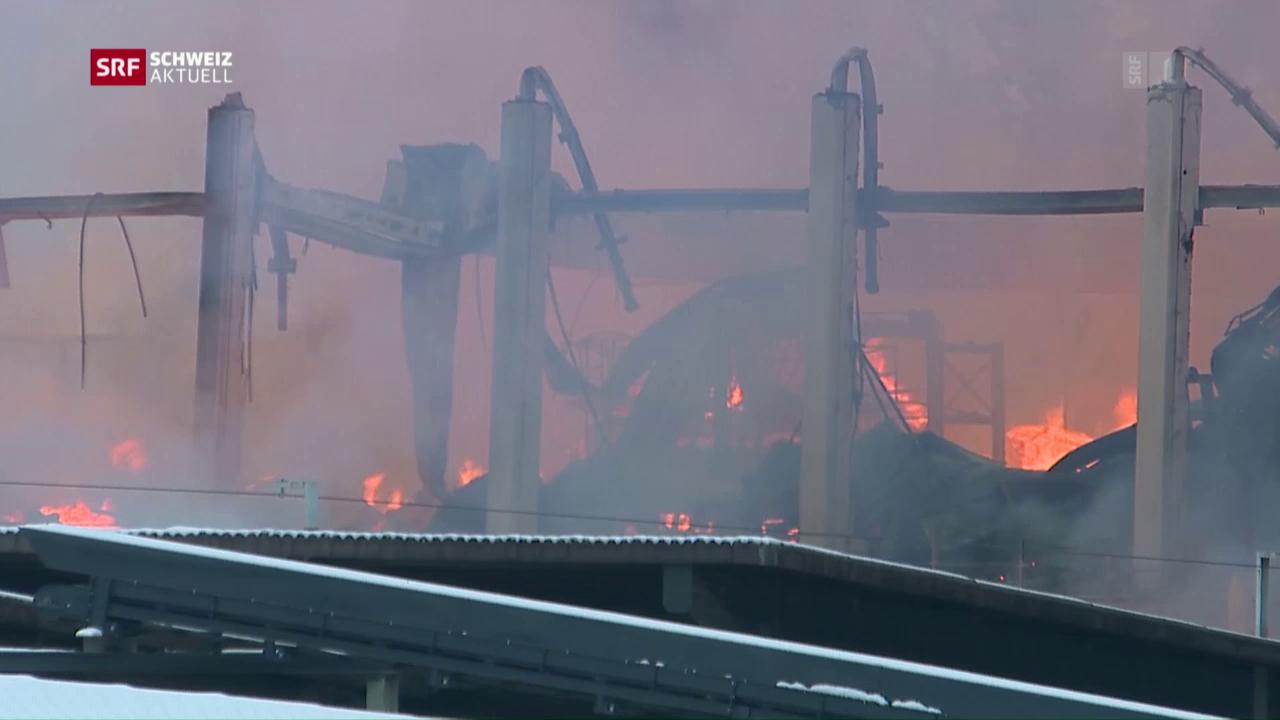 Zwei Hallen niedergebrannt