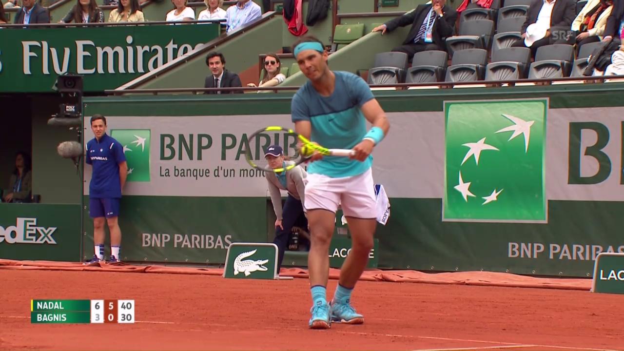 Entscheidende Punkte bei Nadal - Bagnis