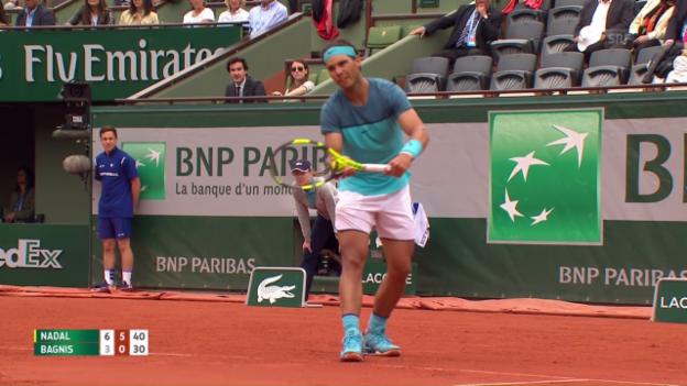 Video «Entscheidende Punkte bei Nadal - Bagnis» abspielen