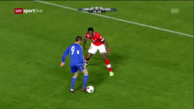 Video «Fussball: Highlights Zypern - Schweiz» abspielen