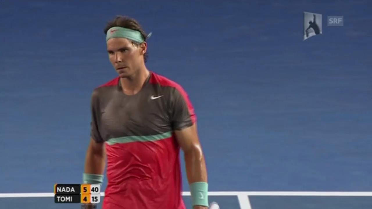 Satzball Nadal / Aufgabe Tomic