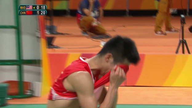 Video «Chen Long holt Badminton-Gold» abspielen
