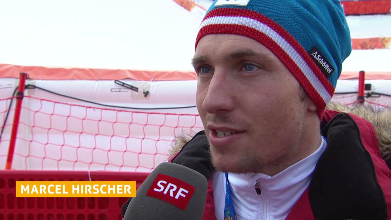 Ski Alpin: Slalom der Männer, Interview mit Marcel Hirscher (sotschi direkt, 22.2.2014)