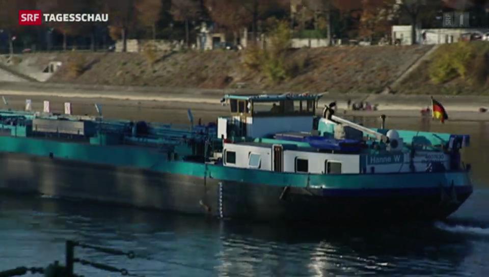 Die Rheinschifffahrt fürchtet sich vor dem Klimawandel