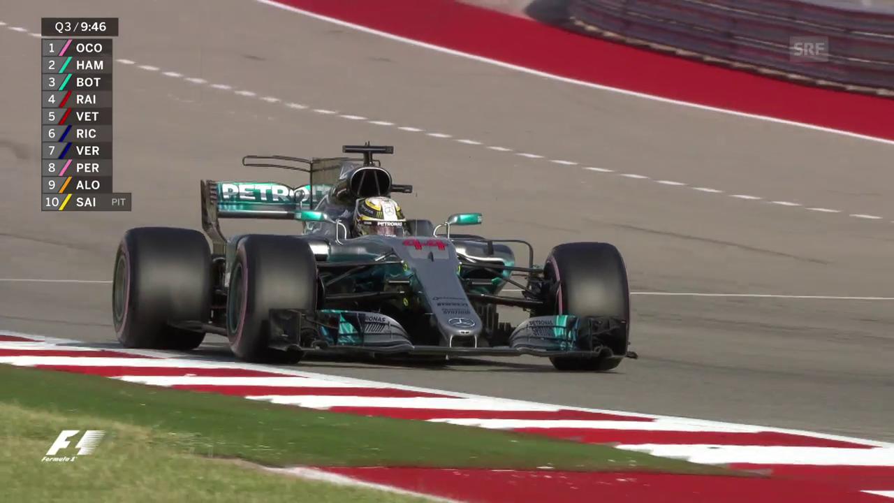 Hamiltons Streckenrekord-Runde in Austin
