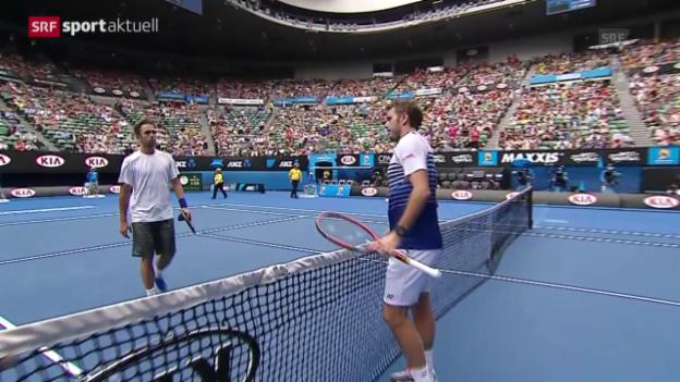 Video «Tennis: Gelungener Start für Stan Wawrinka in Melbourne» abspielen
