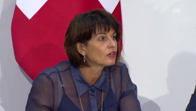 Video «Bundesrätin Leuthard über das Nein zur «Grünen Wirtschaft»» abspielen