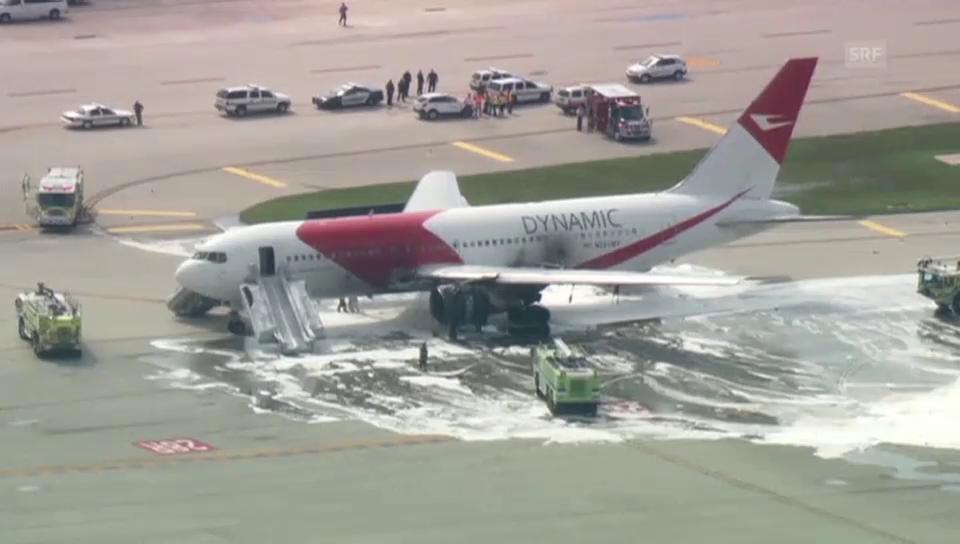 Flugzeugbrand in Fort Lauderdale