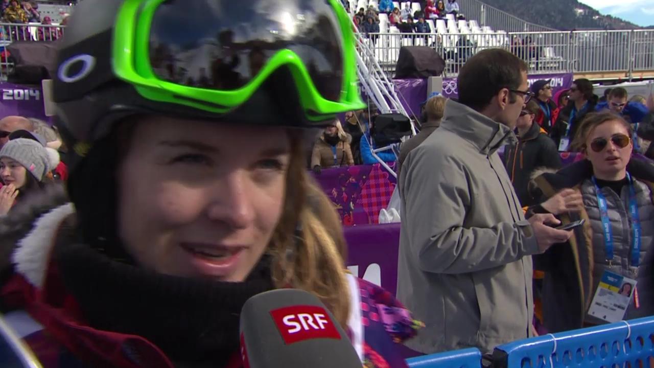 Snowboard: Halfpipe-Quali, Interview mit Ursina Haller (sotschi direkt, 12.02.2014)