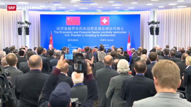 Video «Chinas Premierminister zu Besuch» abspielen
