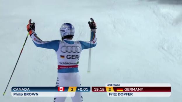 Video «Ski-WM: Teamevent, kleiner Final, Deutschland-Kanada» abspielen