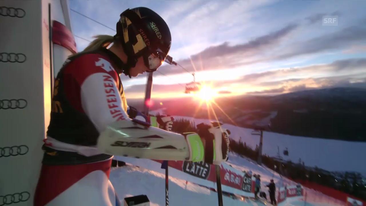 Ski Alpin: 1. Lauf von Lara Gut