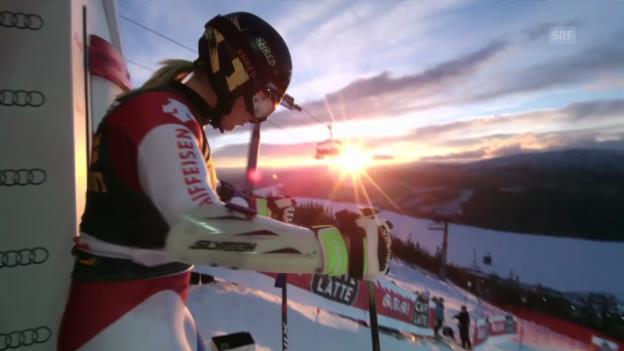 Video «Ski Alpin: 1. Lauf von Lara Gut» abspielen