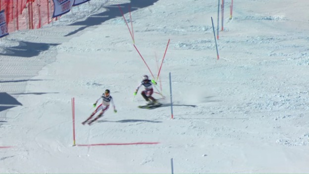 Video «Gold-Krimi: So schlug Aerni Top-Favorit Hirscher um 1 Hundertstel» abspielen