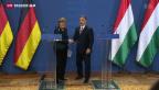 Video «Merkel zu Besuch bei Orban in Ungarn» abspielen