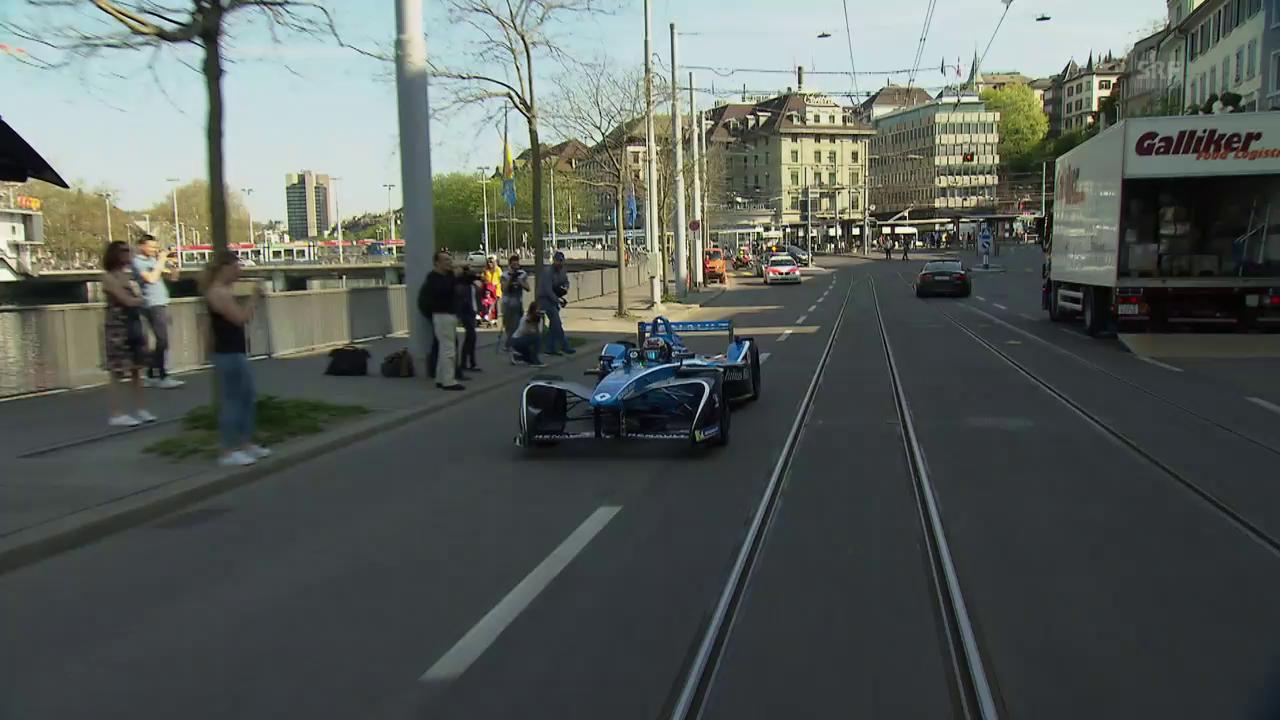 Buemis Testfahrt durch Zürichs Strassen