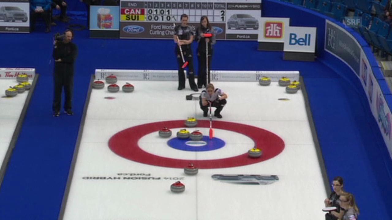 Curling-WM: Entscheidung bei Kanada - Schweiz (Quelle: EVS)