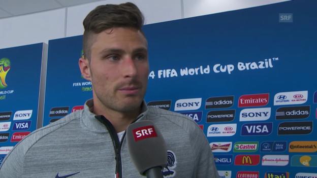 Video «Olivier Giroud über das Spiel gegen die Schweiz» abspielen