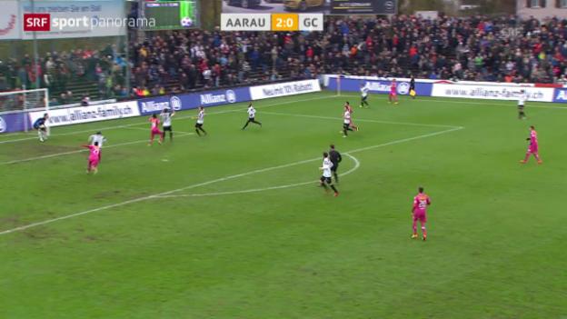 Video «Fussball: Aarau - GC» abspielen