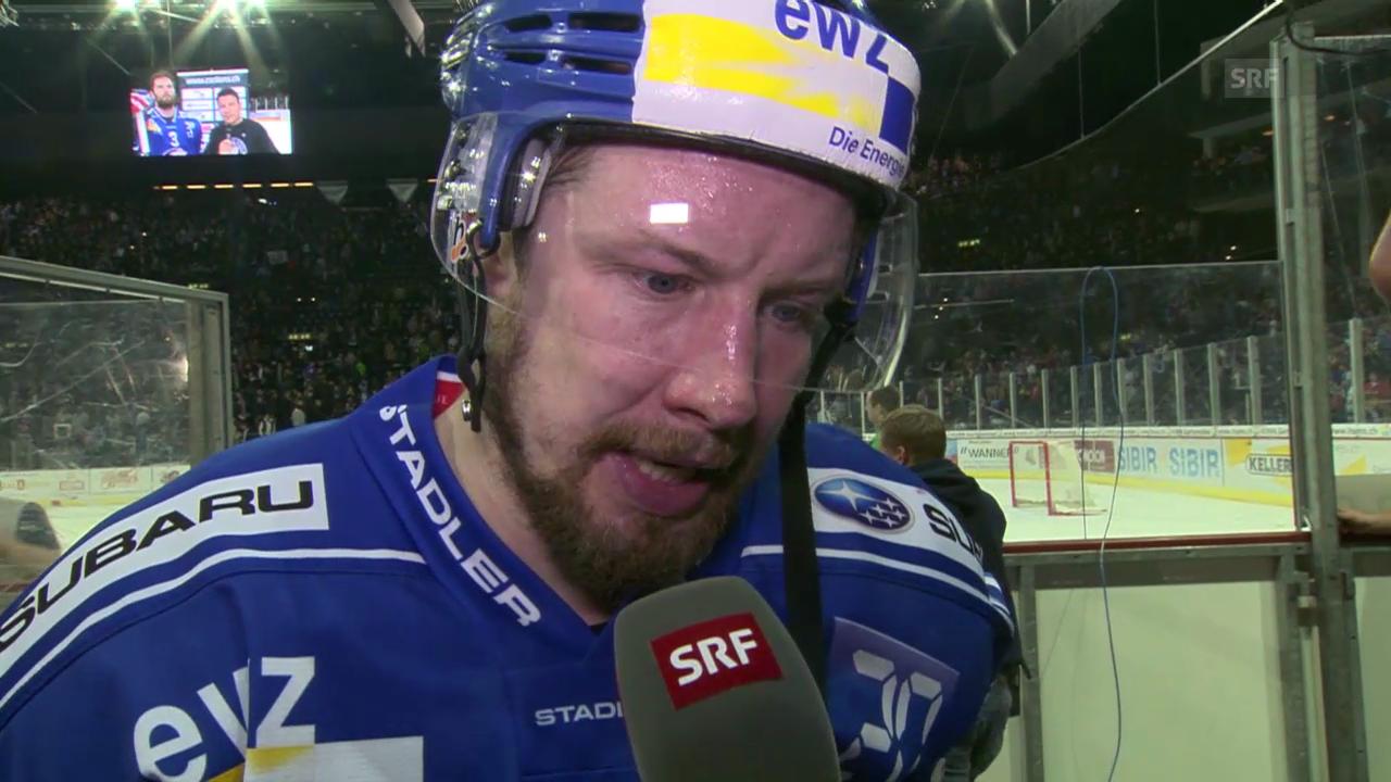 Eishockey: ZSC Lions - Kloten Flyers, Interview Mathias Seger