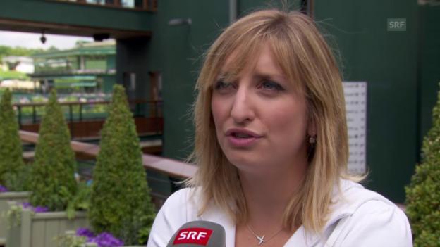 Video «Bacsinszky über Erstrundengegnerin Goerges» abspielen