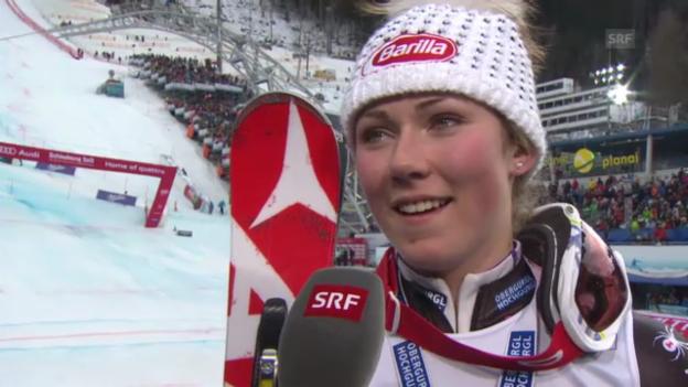 Video «WM-Slalom: Interview Shiffrin» abspielen