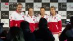 Video «Die Schweizerinnen vor dem Fed-Cup-Halbfinal gegen Tschechien» abspielen