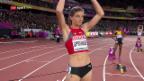 Video «Der 400-m-Hürden-Halbfinal von Léa Sprunger» abspielen