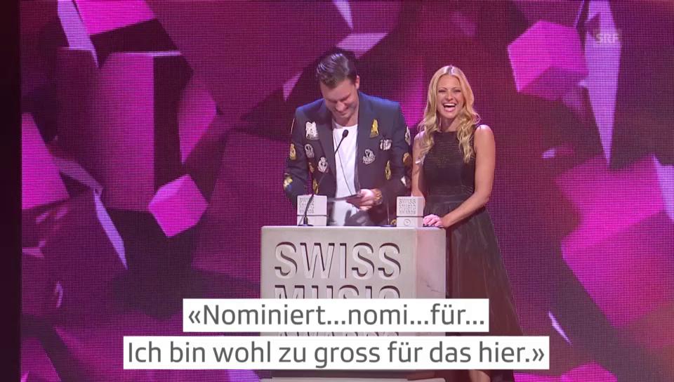 10 Jahre Swiss Music Awards: Die lustigsten Momente
