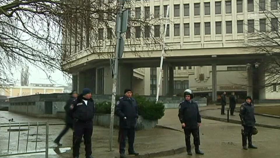 Das besetzte Parlamentsgebäude (unkommentiert)