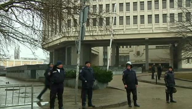Video «Das besetzte Parlamentsgebäude (unkommentiert)» abspielen