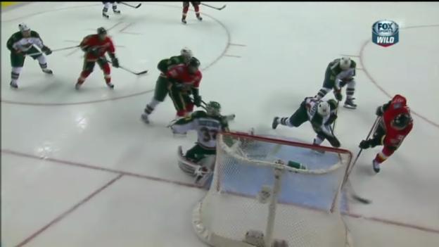 Video «NHL: Bärtschis Tor gegen Minnesota» abspielen