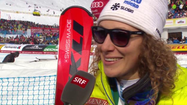 Video «Weltmeisterin Stuhec: «Nicht gesprochen, nur geweint»» abspielen