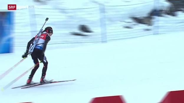 Video «Biathlon: Aita Gasparin mit Weltcup-Bestleistung («sportaktuell»)» abspielen