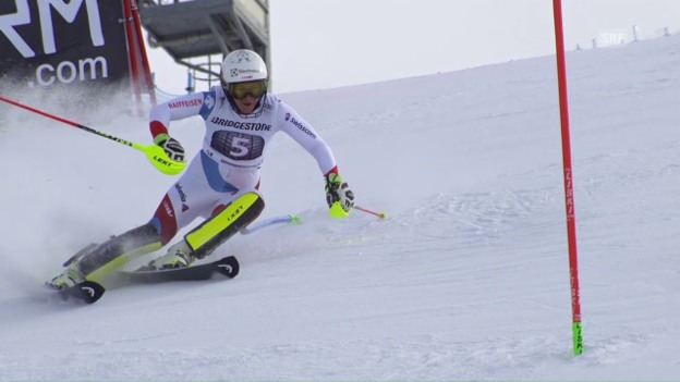 Video «Holdeners Fahrt aufs Slalom-Podest in Sestriere» abspielen
