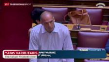 Video «Hitzige Parlamentsdebatte in Athen» abspielen