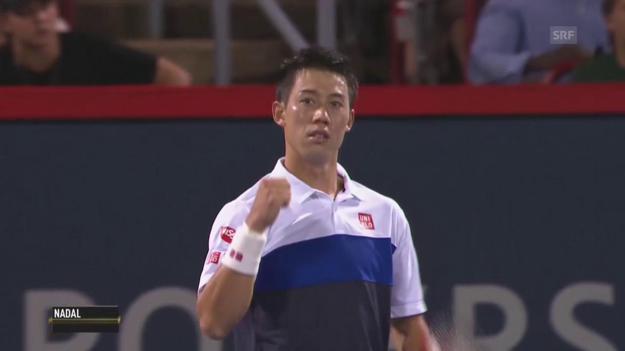 Tennis: ATP Montreal, Nishikori schlägt Nadal
