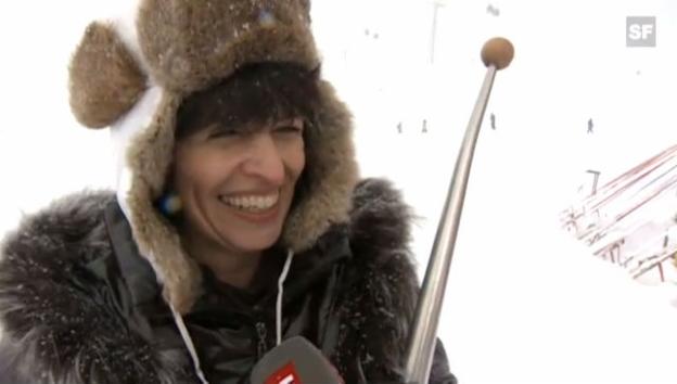 Video «Doris Leuthard nach der Verleihung der Humorschaufel» abspielen