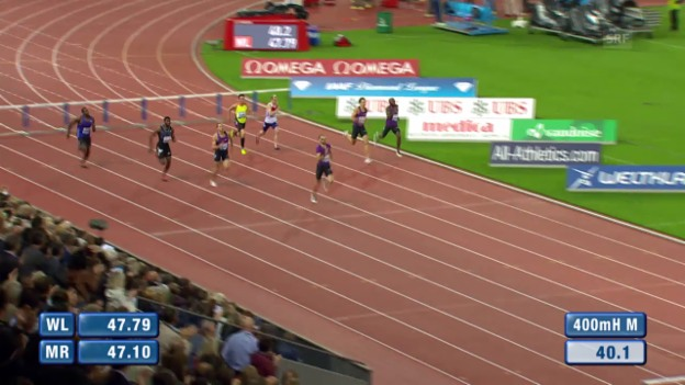 Video «Leichtathletik: Weltklasse Zürich, 400 m Hürden» abspielen
