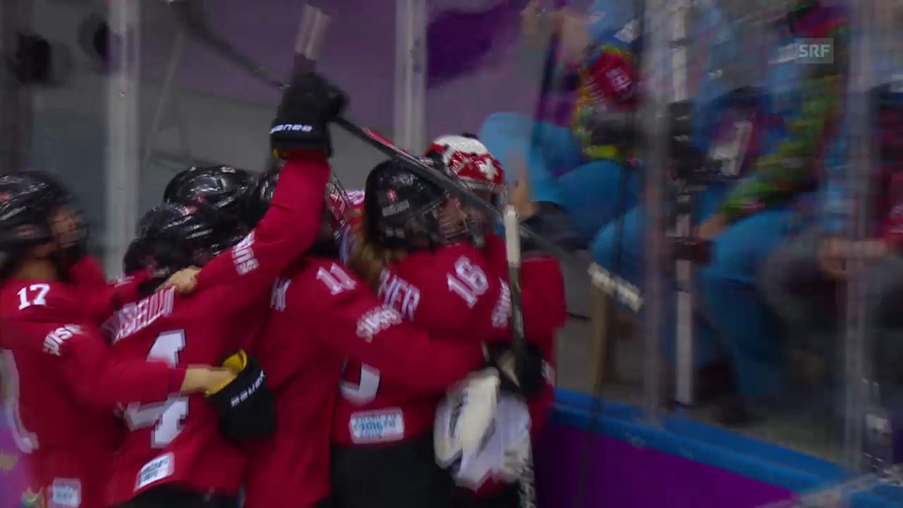 Sotschi: Die Schlussphase im Bronze-Spiel der Frauen