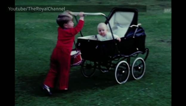 Video «Prinz Charles und seine Schwester als Kinder (ohne Ton, unkomm.)» abspielen