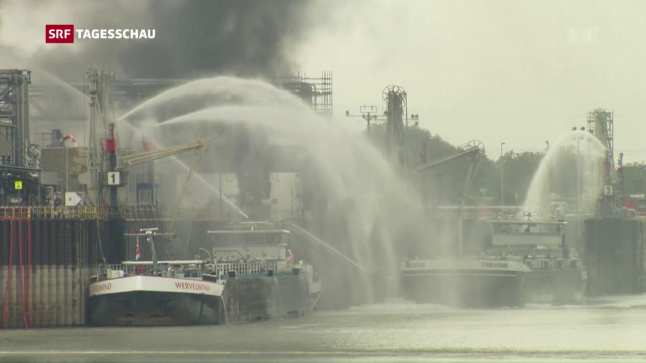 Mehrere Explosionen bei BASF