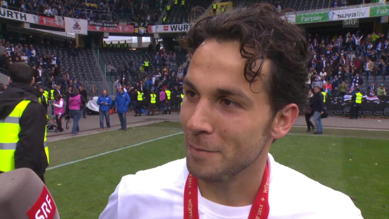 Fussball: Cupfinal Zürich - Basel, Interview mit Davide Chiumiento