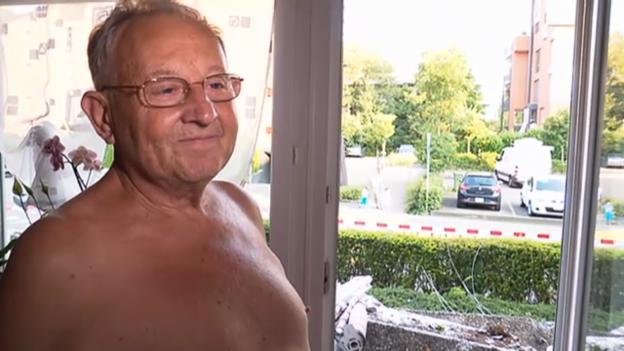Video «Anwohner Alfred Graf: «Ich war gerade beim Znacht»» abspielen