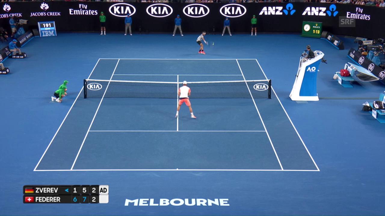 So macht Tennis Spass: Federer gewinnt spektakulären Ballwechsel