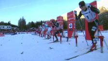 Video «Langlauf: Weltcup, Lenzerheide, Sprint-Final der Männer» abspielen